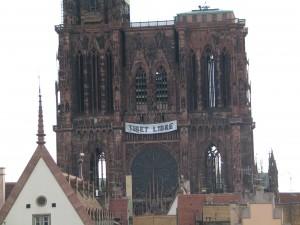 Cathédrale de Strasbourg Tibet Libre